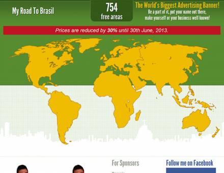 myroadtobrasil.com interaktív világtérkép