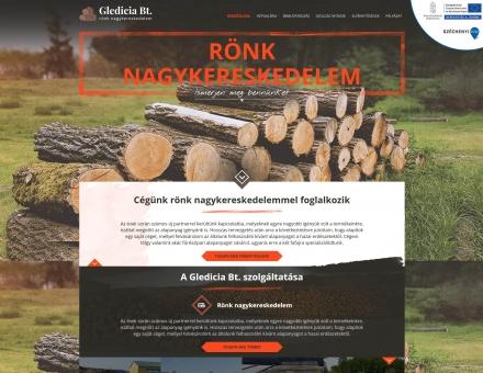 Glediciabt.hu egyedi bemutatkozó honlap készítése