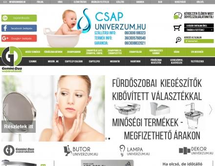 Csapuniverzum.hu reszponzív webáruház készítés