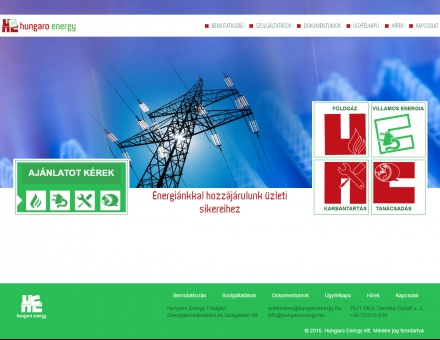hungaroenergy.hu vállalati bemutatkozó weblap megújítása