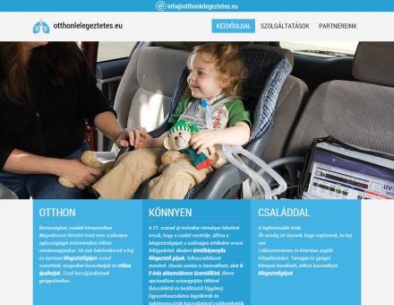 Otthonlelegeztetes.eu bemutatkozó honlap elkészítése