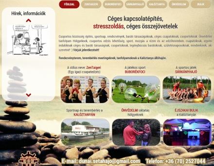 Stressztrening.hu bemutatkozó weboldal készítés