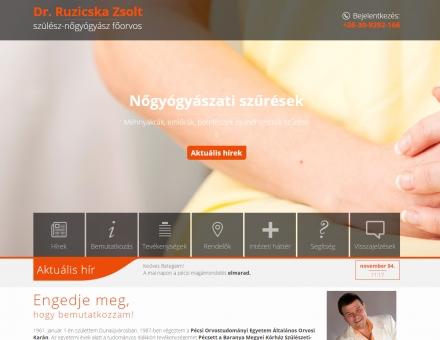 Ruzicskazsolt.hu weboldal készítés