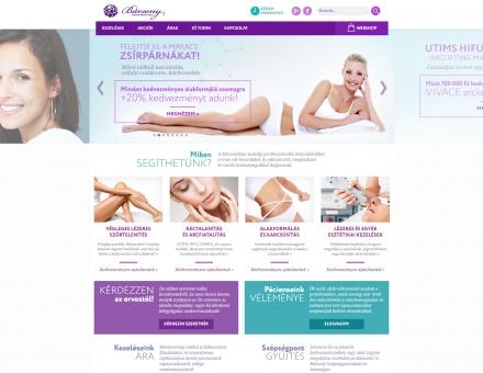 Barsony.hu reszponzív orvos-esztétikai weboldal készítése