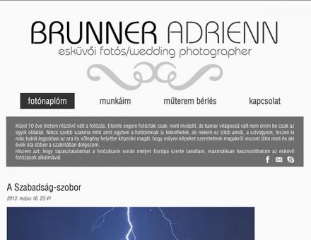 brunneradrienn.com esküvői fotós oldala