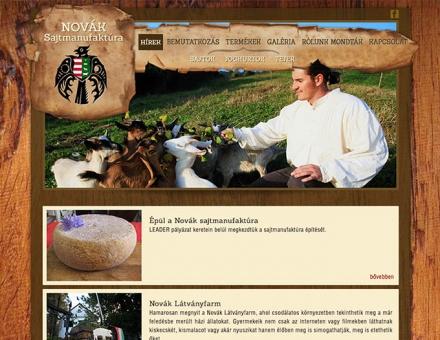 Novák Sajtmanufaktúra bemutatkozó weboldalának elkészítése