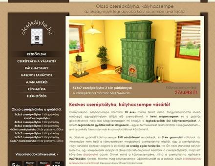 olcsokalyha.hu webáruház programozás