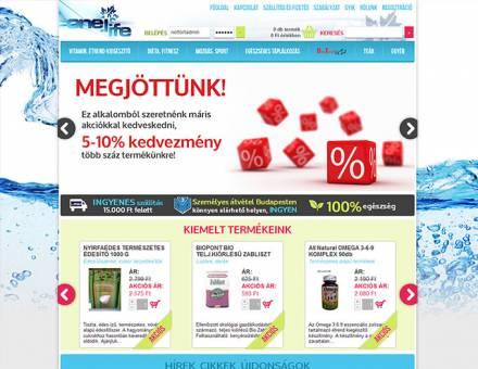 onelife.hu webáruház készítés