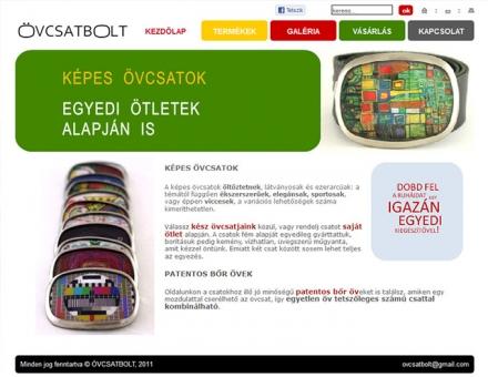 övcsatbolt.hu termékkatalógus weboldal