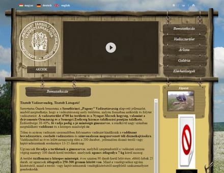 pagonyvt.hu honlap készítése