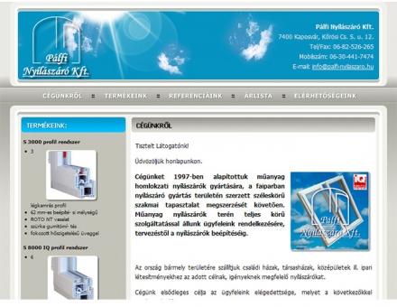 Pálfi Nyílászáró Kft. weboldalának elkészítése