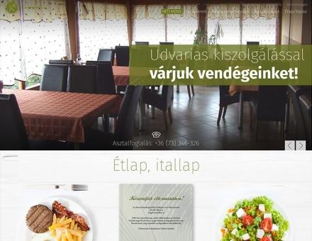 Palmavendeglo.hu reszponzív éttermi honlap készítése