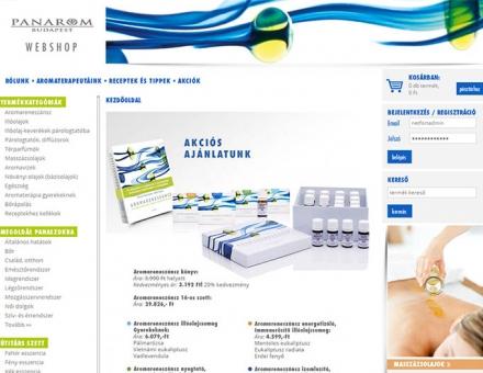 panaromwebshop.hu webáruház programozása