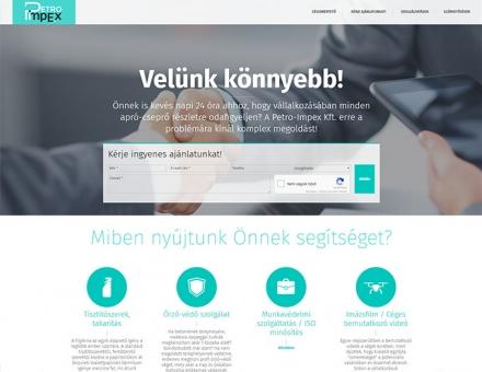 Petroimpex.hu vállalkozásokat segítő céges reszponzív weboldal készítés