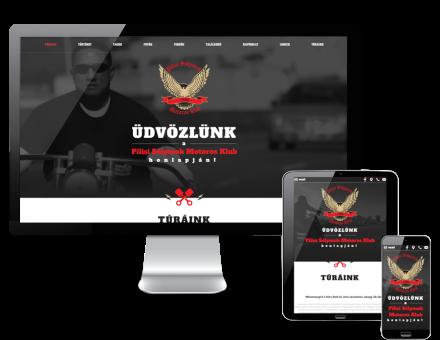 Pilisisolymok.hu - Pilisi Sólymok Motoros Klubjának reszponzív honlap készítése