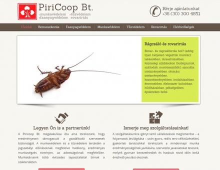 Piricoop.hu kkv bemutatkozó weboldal megújítás