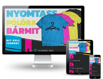 Polodekor.hu - Egyedi póló készítés, nyomtatás - reszponzív honlapkészítés