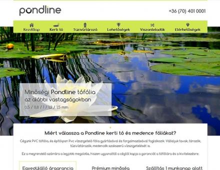 pondline.hu honlap tervezés