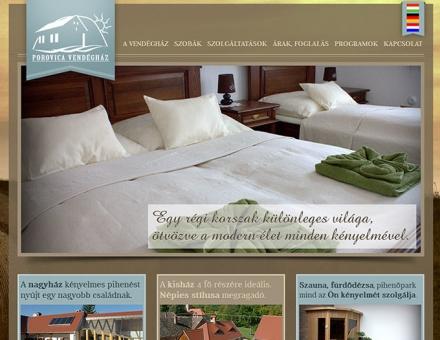 Porovica Vendégház weboldalának elkészítése