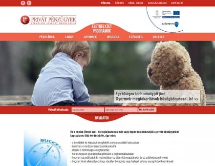 Privát Pénzügyek - pénzügyi tanácsadó weboldal elkészítése
