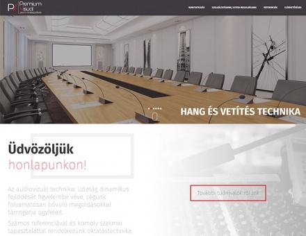 Premiumvisual.hu reszponzív technikai bemutatkozó honlap készítése