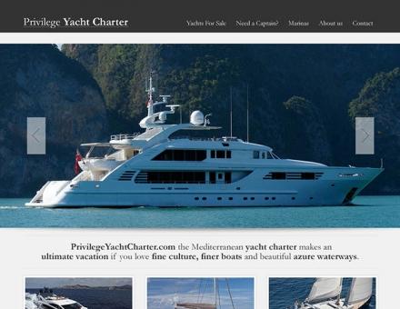 privilegeyachtcharter.com weboldal elkészítése