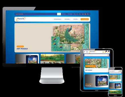 Puzzlekucko.hu - felnőtt és gyermek puzzlek - reszponzív webáruház készítés