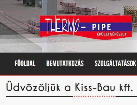 Kissbau.eu céges bemutatkozó weblap elkészítése