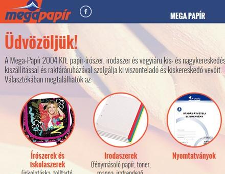 Megapapir.hu reszponzív weboldal készítése