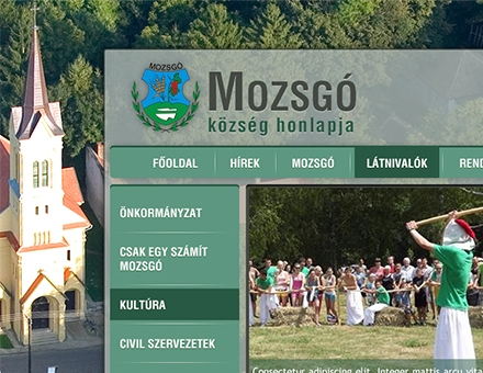 Mozsgó Község honlapja