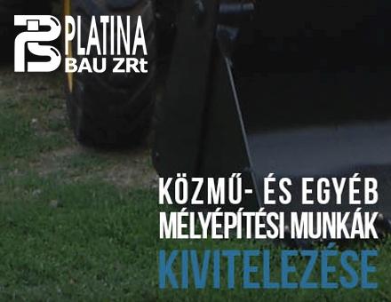 Platina Bau Zrt. céges bemutatkozó weboldalának megújítása