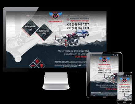 Motorangel.hu responsive weboldalkészítés