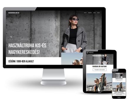 Ruhabirodalom.hu - Használtruha, bálás ruha kereskedelem - reszponzív honlapkészítés