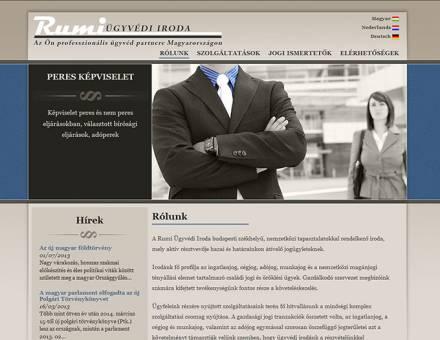 rumi.hu ügyvédi oldal elkészítése