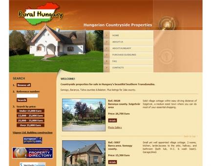 Rural Hungary - ingatlanközvetítő