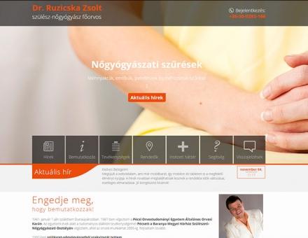 Dr. Ruzicska Zsolt honlapjának elkészítése