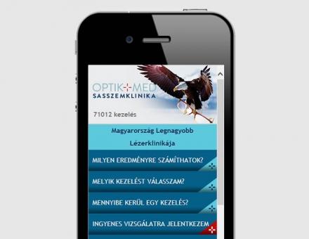 Sasszemklinika.hu weboldal mobil verziójának elkészítése