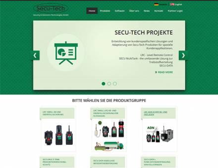 Secu-tech.at honlap elkészítése