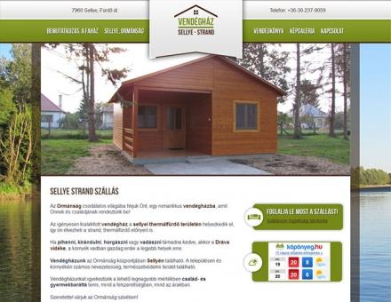 Sellyei vendégház weboldalának elkészítése