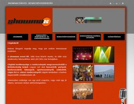 showmax.hu weboldal tervezés