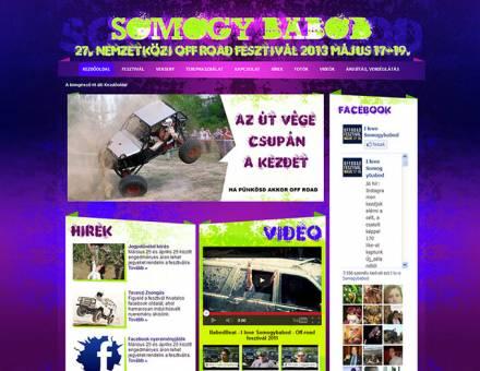 Somogybabod.com ismertető honlap programozása
