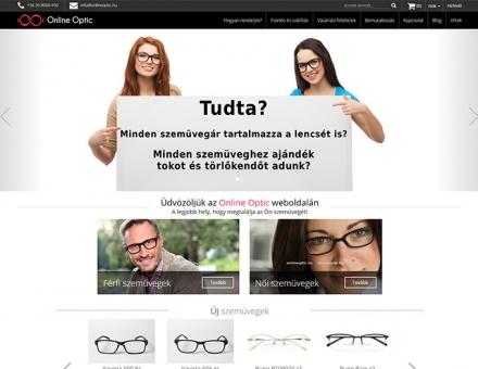 Onlineoptic.hu webáruház készítés