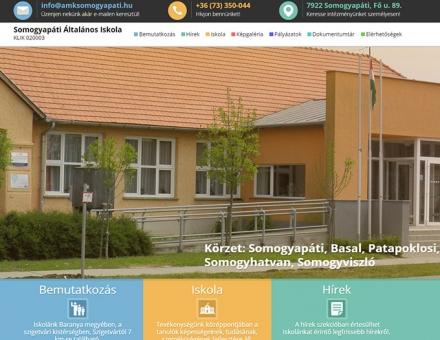 Amksomogyapati.hu reszponzív iskolai honlap készítés