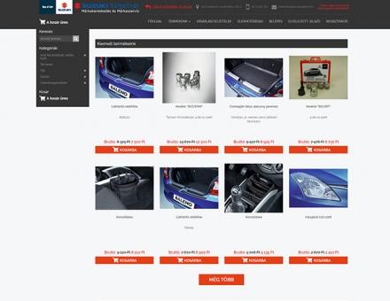 Webshop.suzukiszigetvar.hu webáruház készítése
