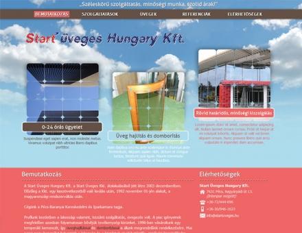 A pécsi Start Üveges Hungary Kft. honlap elkészítése
