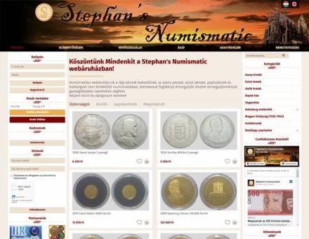 Stephansnumizmatika.hu - Numizmatika reszponzív webáruház készítés