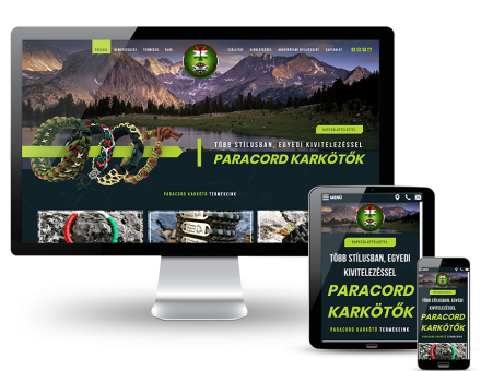 Strongparamedicparacord.hu - egyedi paracord karkötők, széles választék - reszponzív honlapkészítés