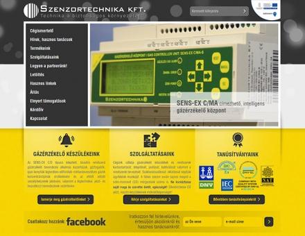Szenzortechnika.hu céges bemutatkozó honlapjának megújítása
