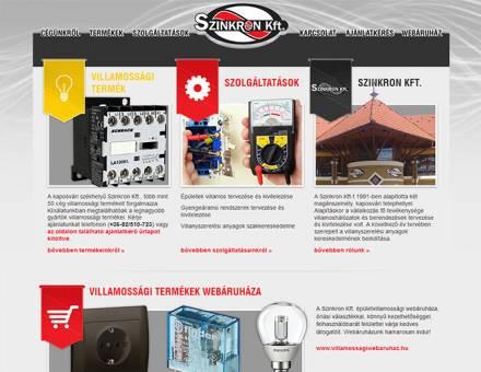 szinkronkft.hu weboldal megújítása