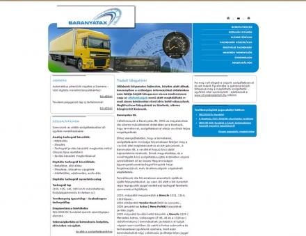 Tachografjavitas.hu weboldal elkészítése
